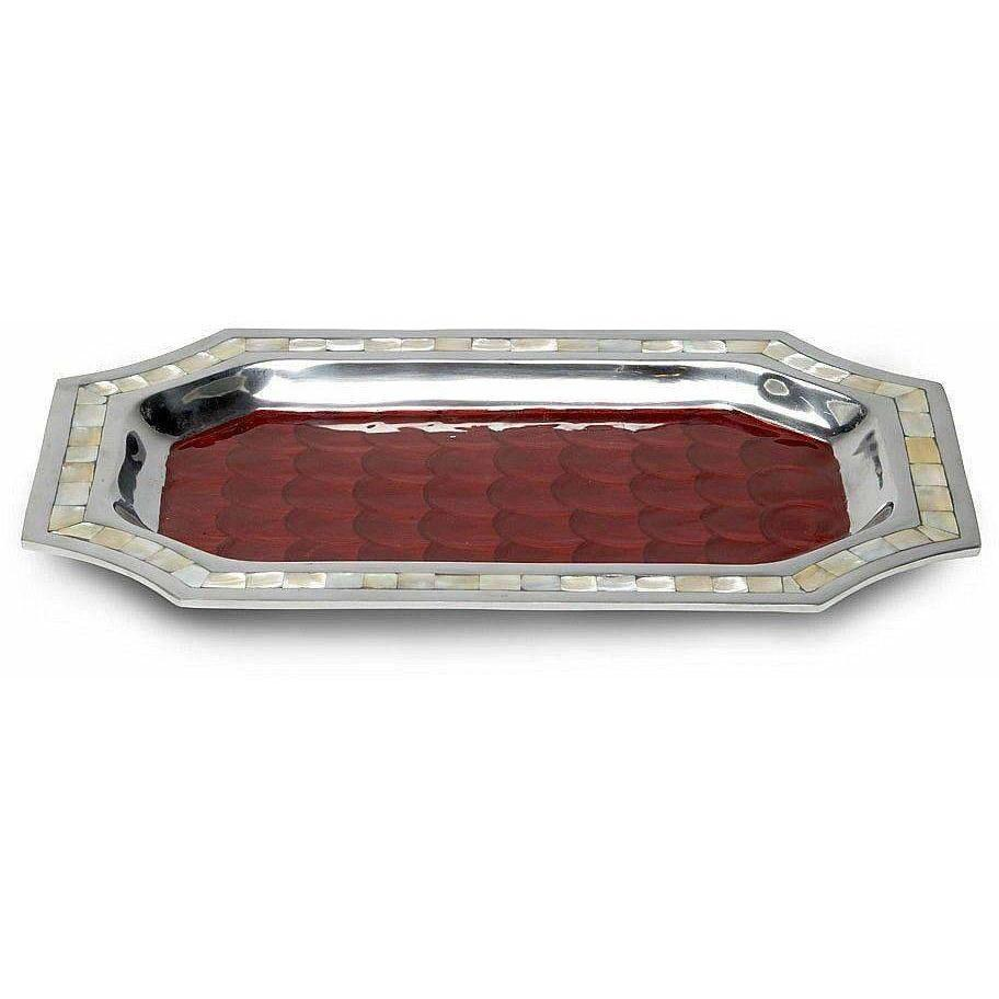 "Julia Knight Classic 16"" Octagonal Tray Pomegranate 5090040"
