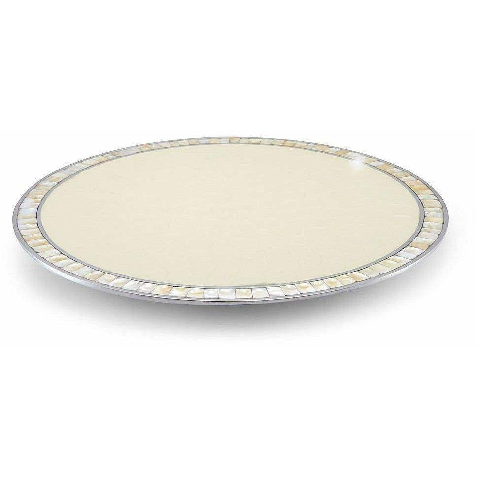 "Julia Knight Classic 18"" Lazy Susan Snow 6410015"