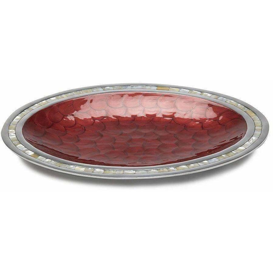 "Julia Knight Classic 18"" Oval Platter Pomegranate 5460040"