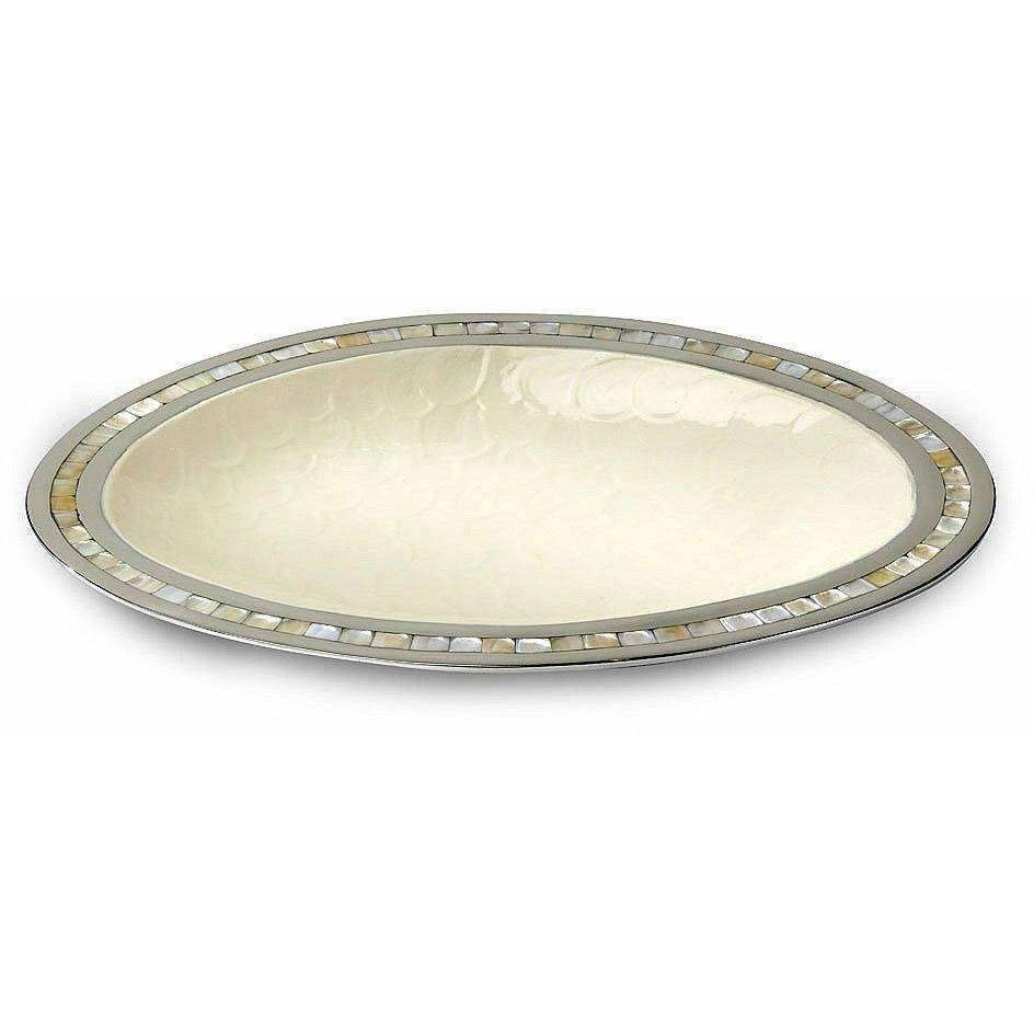 "Julia Knight Classic 18"" Oval Platter Snow 5460015"