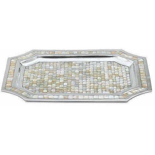 "Julia Knight Classic 20"" Octagonal Tray Mother of Pearl 4080000"