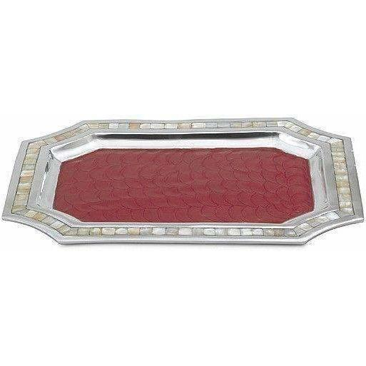 "Julia Knight Classic 20"" Octagonal Tray Pomegranate 4080040"