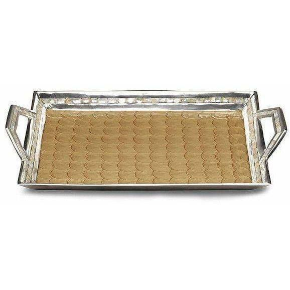 "Julia Knight Classic 21"" Beveled Tray with Handles Toffee 5470030"