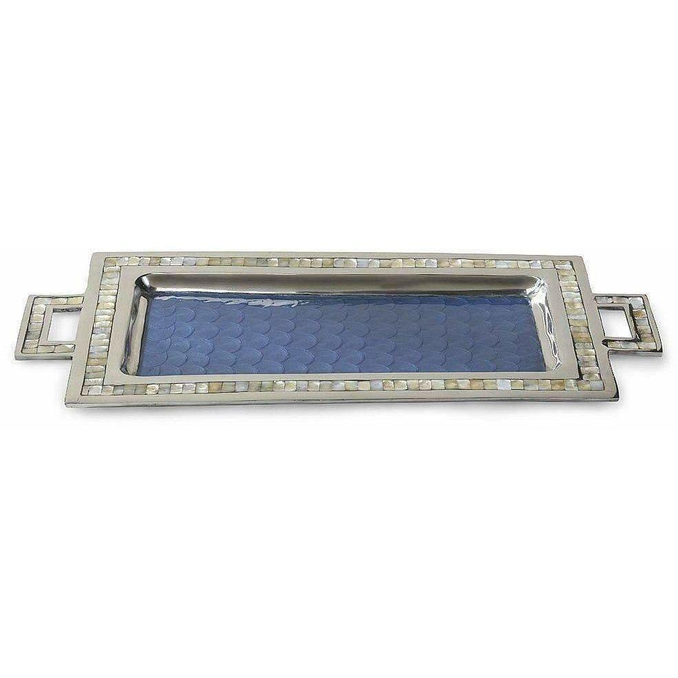 "Julia Knight Classic 25"" Rectangular Tray with Handles Azure 2560036"