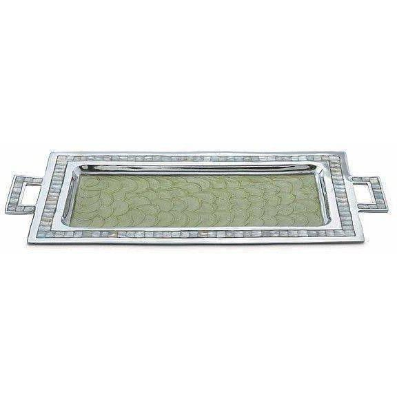"Julia Knight Classic 25"" Rectangular Tray with Handles Kiwi 2560026"