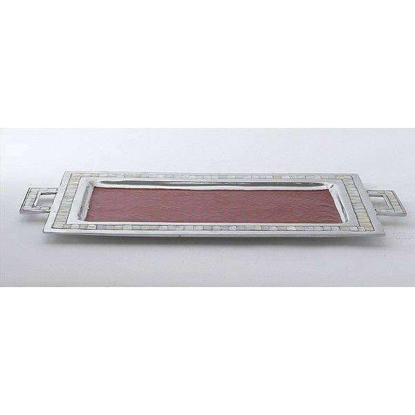 "Julia Knight Classic 25"" Rectangular Tray with Handles Pomegranate 2560040"