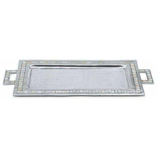 "Julia Knight Classic 25"" Rectangular Tray with Handles Snow 2560015"