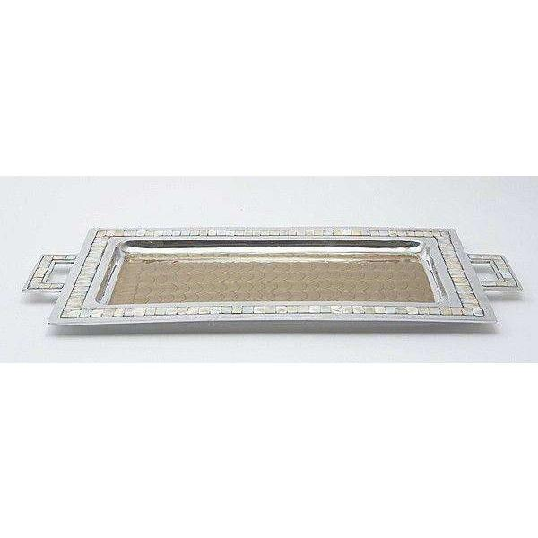 "Julia Knight Classic 25"" Rectangular Tray with Handles Toffee 2560030"