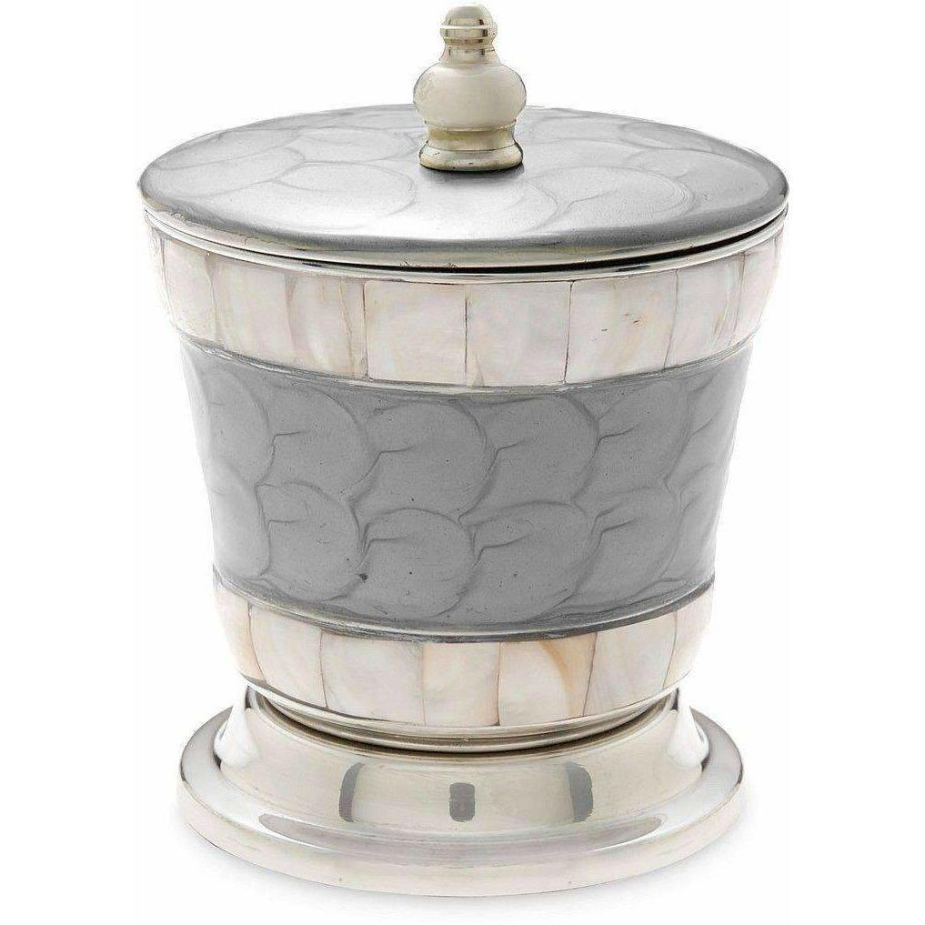 "Julia Knight Classic 5.5"" Covered Canister Platinum 5920037"