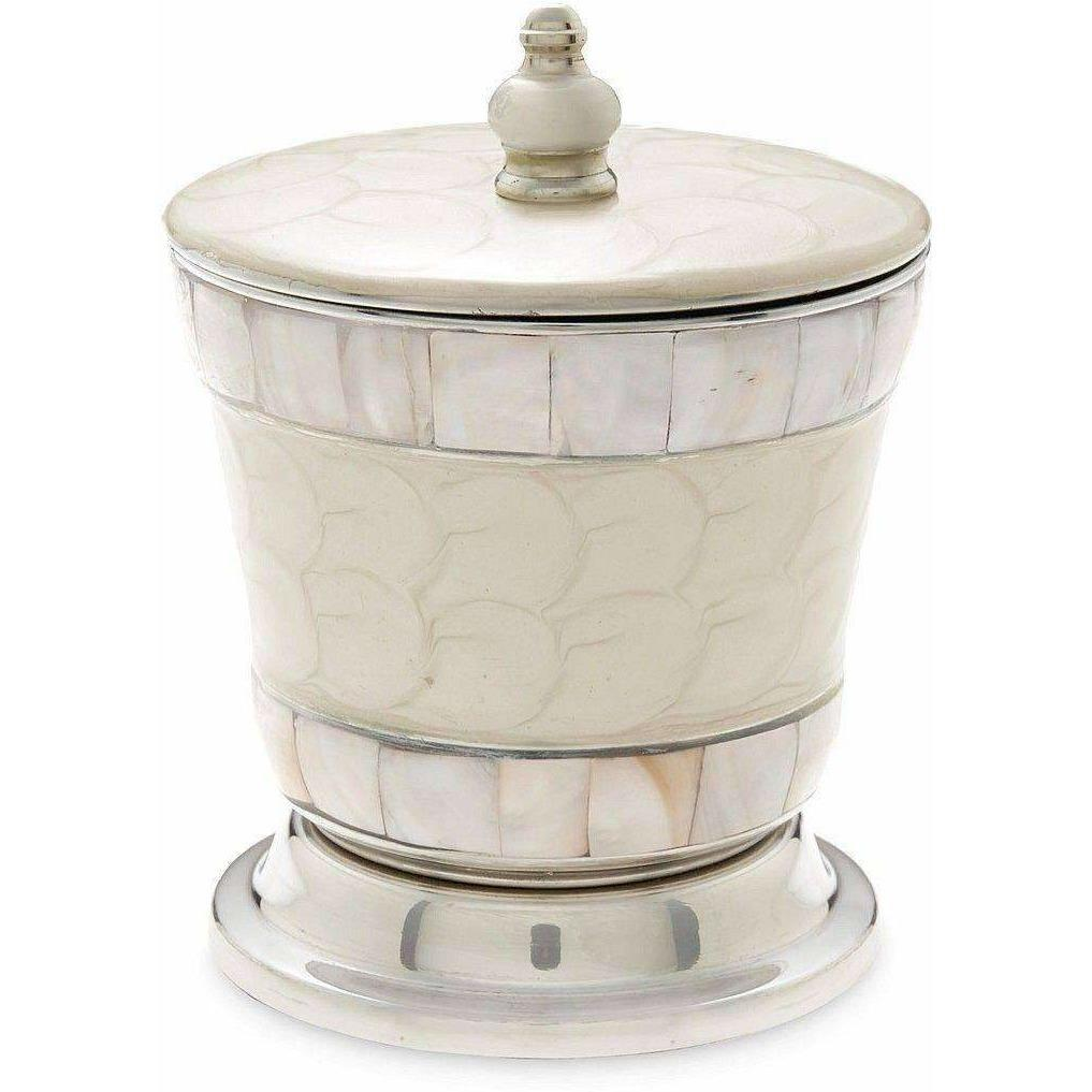 "Julia Knight Classic 5.5"" Covered Canister Snow 5920015"
