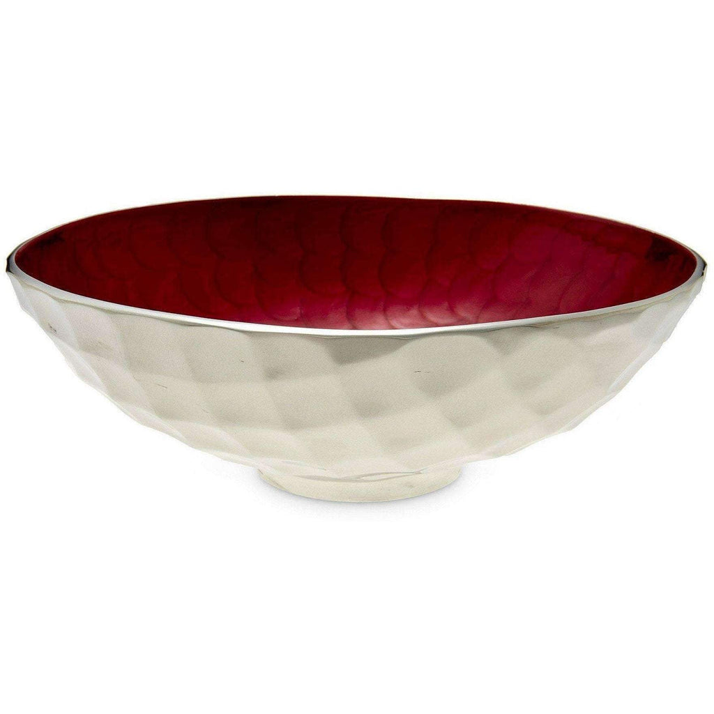 "Julia Knight Diamond 13"" Round Bowl Pomegranate 7580040"