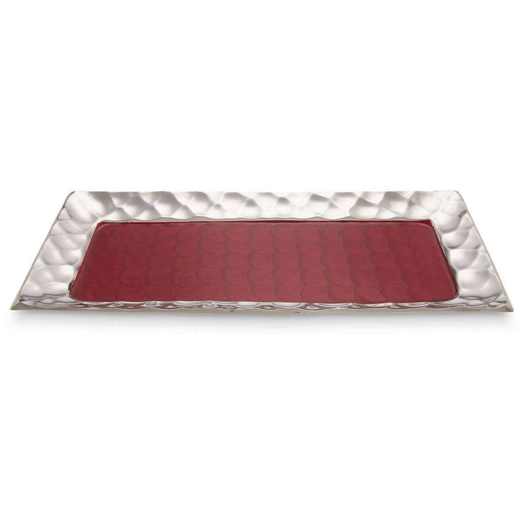 "Julia Knight Diamond 17.25"" Rectangular Tray Pomegranate 7620040"