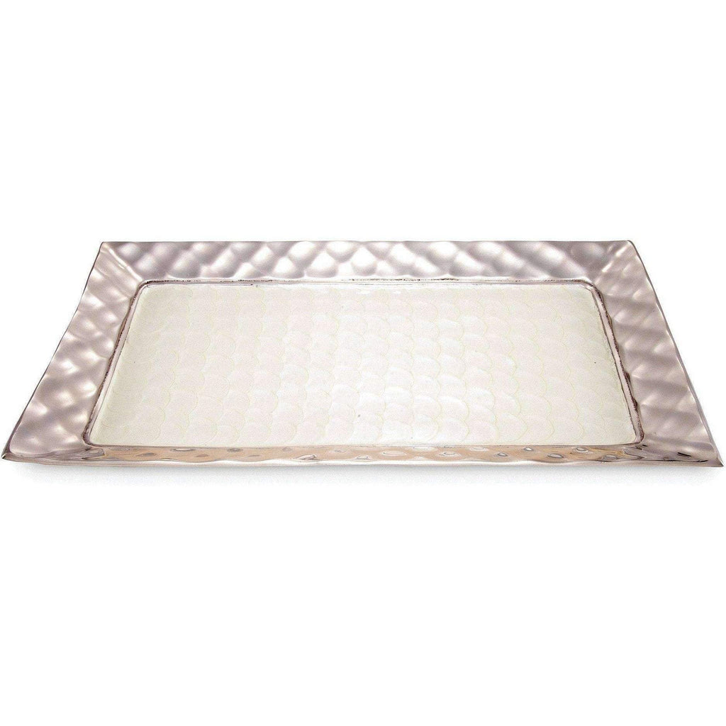 "Julia Knight Diamond 20"" Rectangular Tray Snow 7630015"
