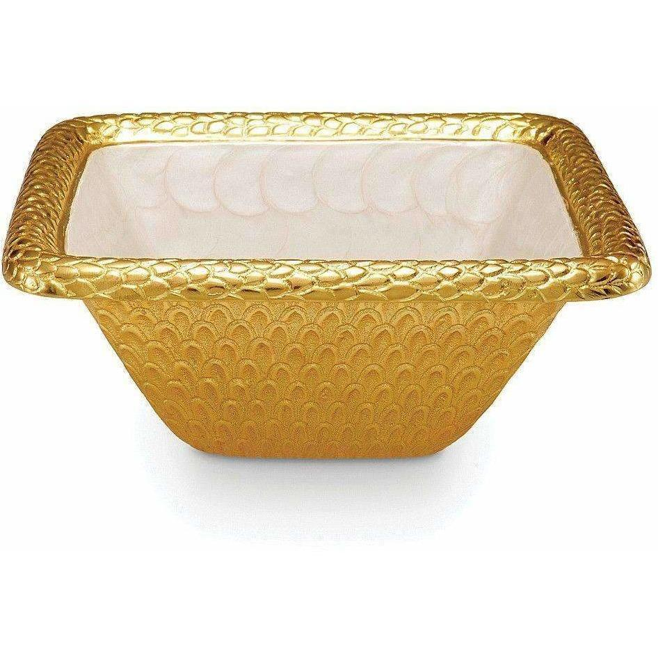 "Julia Knight Florentine 10"" Square Bowl Gold Snow 7260315"