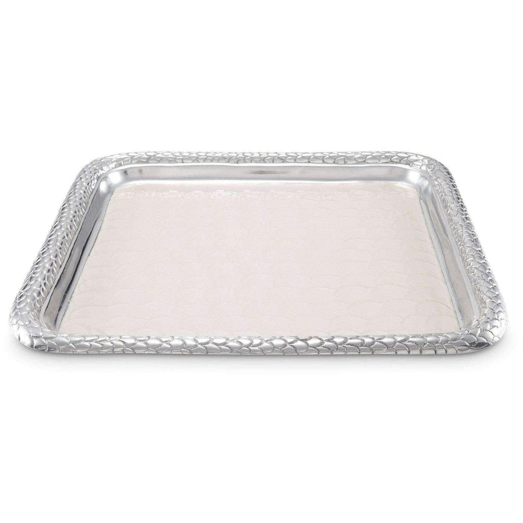 "Julia Knight Florentine 15"" Square Tray Snow 7220015"