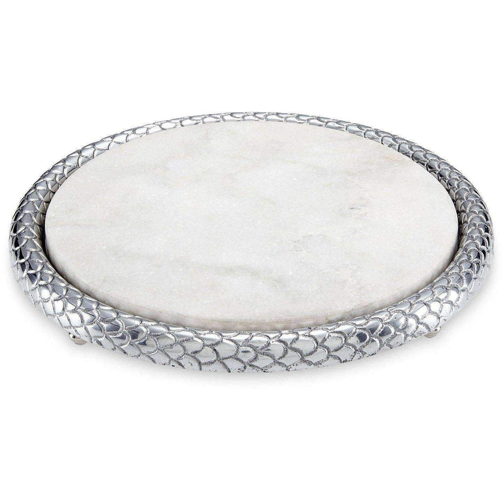 Julia Knight Florentine Marble Cheese Tray Silver 8270000