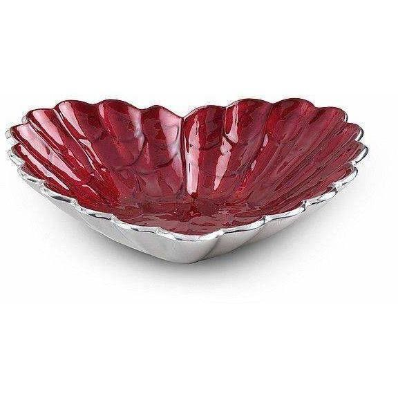 "Julia Knight Heart 10"" Bowl Pomegranate 5190040"