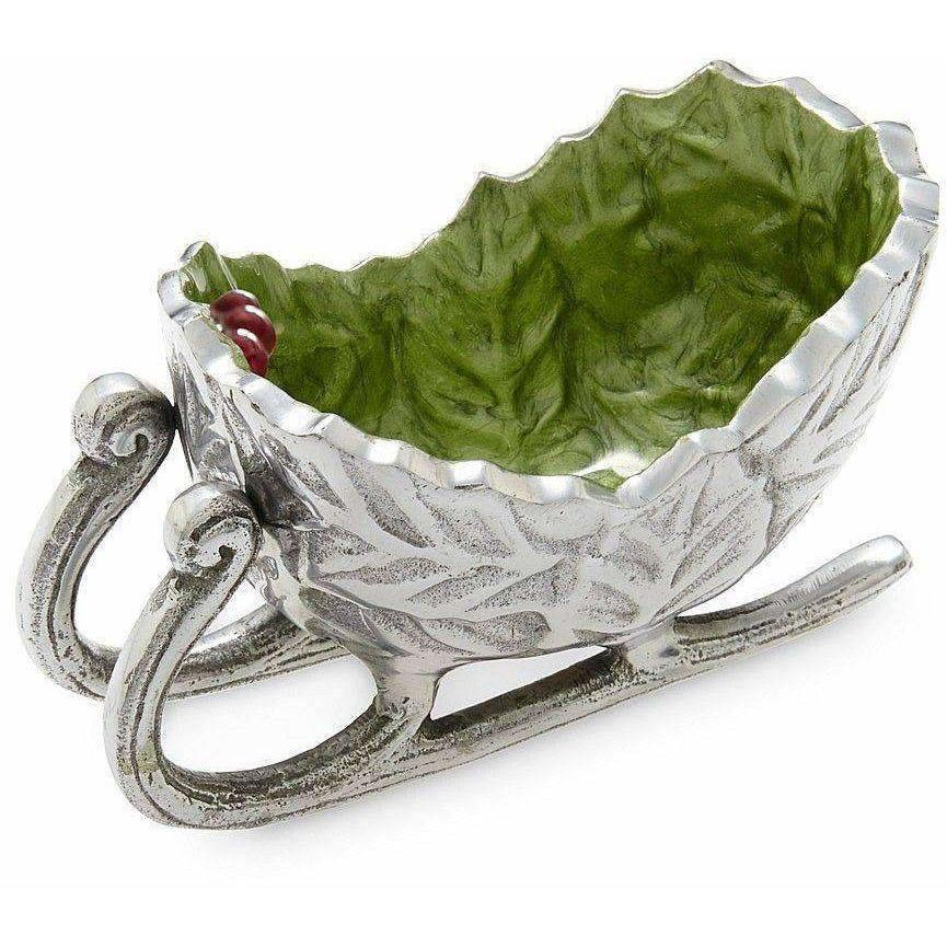 "Julia Knight Holly Sprig 5.5"" Petite Sleigh Bowl Mojito 7840023"