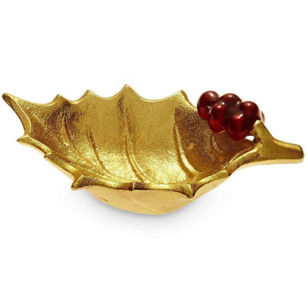 "Julia Knight Holly Sprig 6.5"" Bowl Gold 5170300"