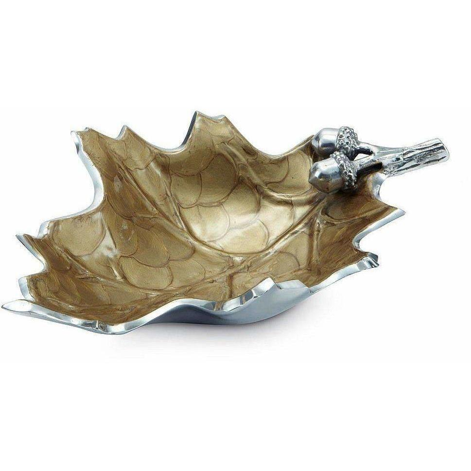 "Julia Knight Oak Leaf 13"" Bowl Toffee 6760030"