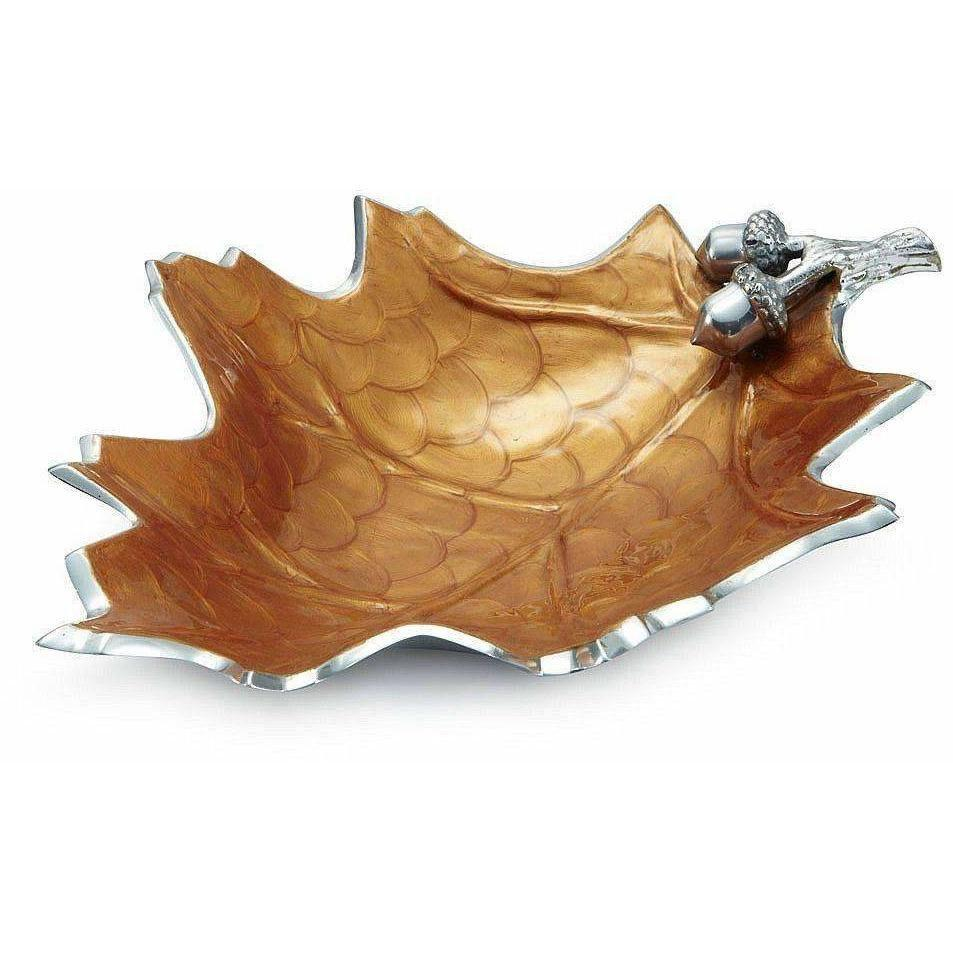 "Julia Knight Oak Leaf 15"" Bowl Spice 6750043"