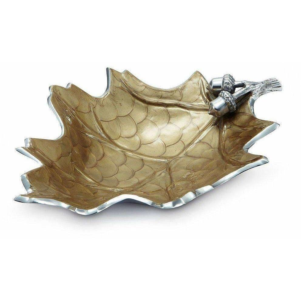"Julia Knight Oak Leaf 15"" Bowl Toffee 6750030"