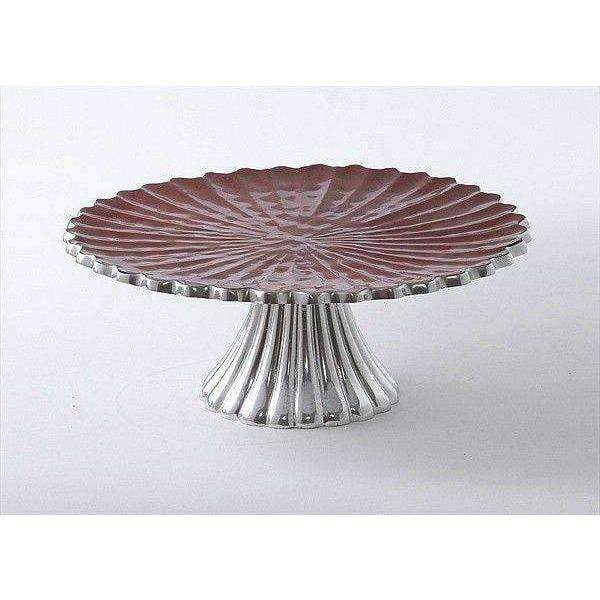 "Julia Knight Peony 10"" Cake Stand Pomegranate 2770040"
