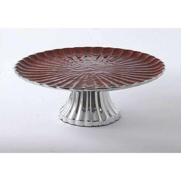 "Julia Knight Peony 14"" Cake Stand Pomegranate 2760040"