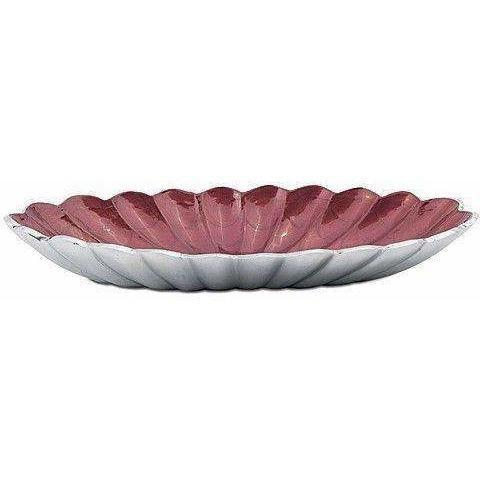"Julia Knight Peony 16"" Oval Bowl Pomegranate 4140040"