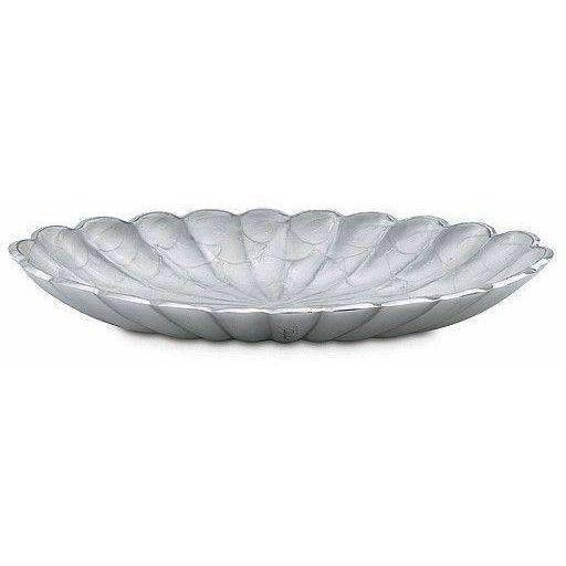 "Julia Knight Peony 16"" Oval Bowl Snow 4140015"