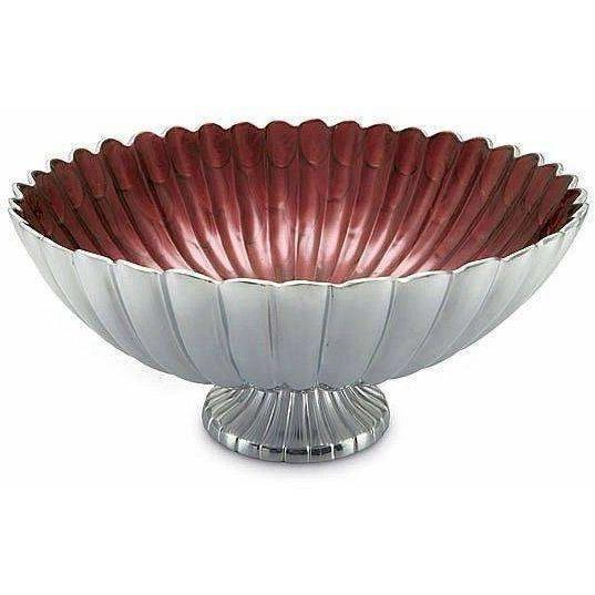 "Julia Knight Peony 21"" Pedestal Gala Bowl Pomegranate 6940040"