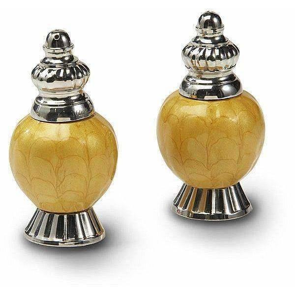 "Julia Knight Peony 4"" Salt and Pepper Set Saffron 5540034"