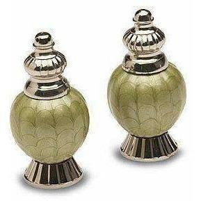 "Julia Knight Peony 4"" Salt & Pepper Set Kiwi 5540026"