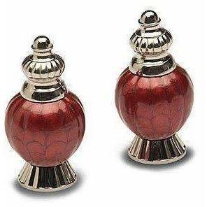 "Julia Knight Peony 4"" Salt & Pepper Set Pomegranate 5540040"