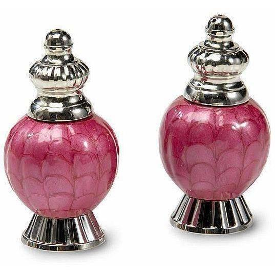 "Julia Knight Peony 4"" Salt & Pepper Set Raspberry 5540029"