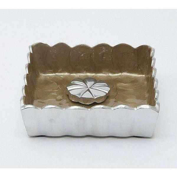 "Julia Knight Peony 5"" Cocktail Napkin Holder Toffee 4030030"