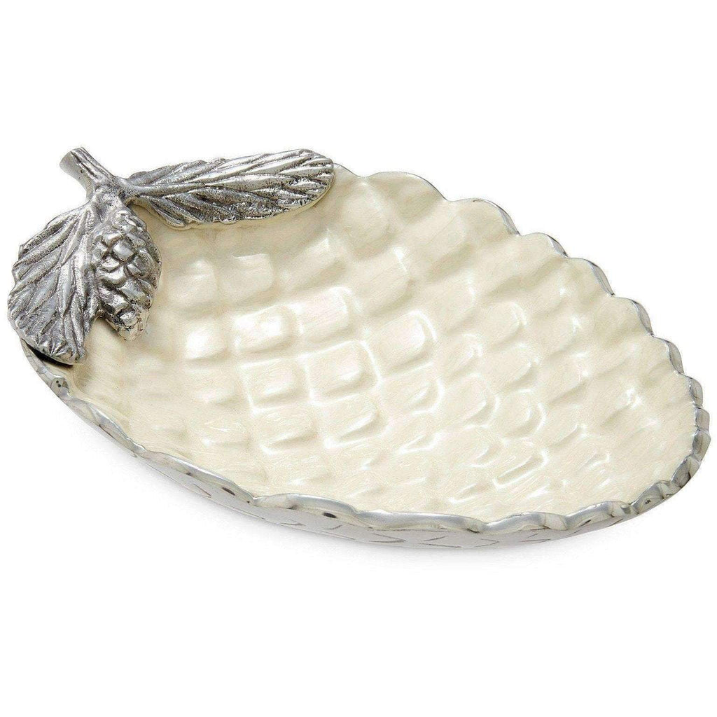 "Julia Knight Pine Cone 11"" Bowl Snow 7800015"