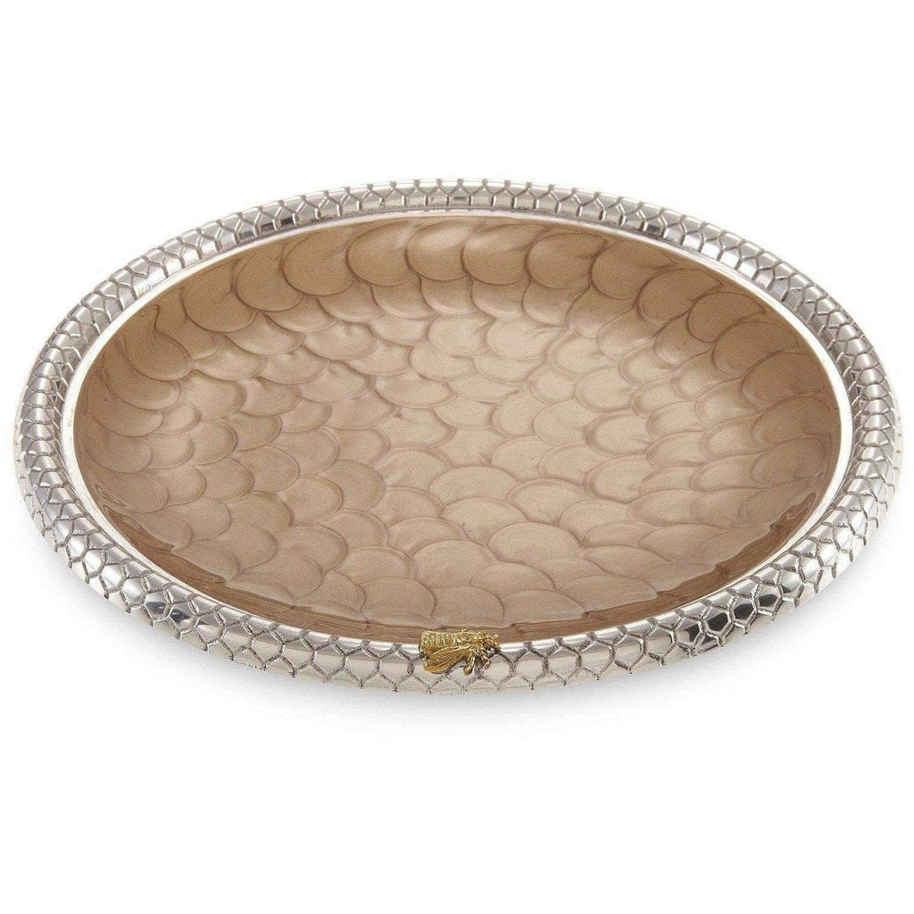 "Julia Knight Queen Bee 13"" Round Tray Toffee 7510030"