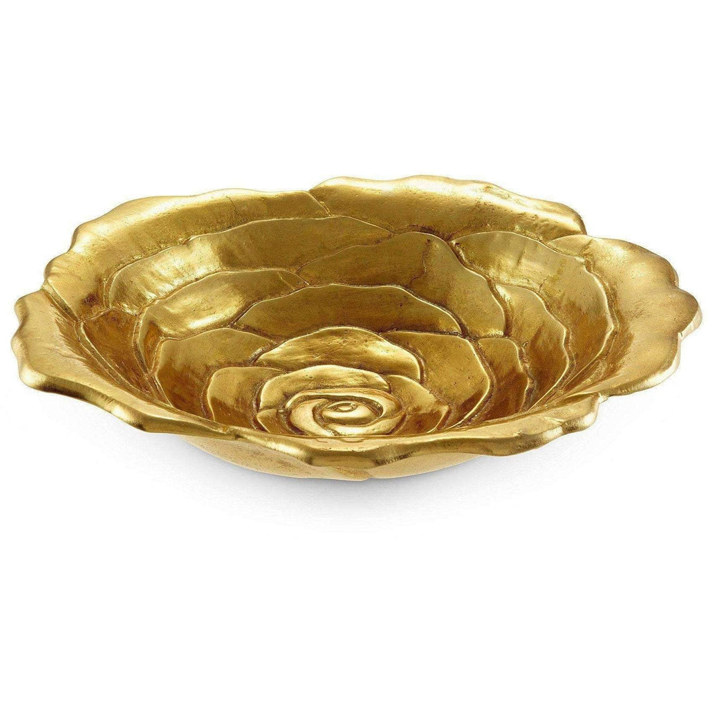 "Julia Knight Rose 12"" Bowl Gold 6580300"