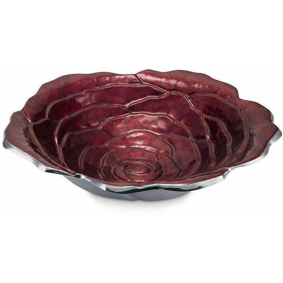 "Julia Knight Rose 15"" Bowl Pomegranate 6570040"