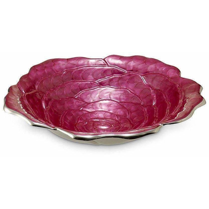 "Julia Knight Rose 15"" Bowl Raspberry 6570029"