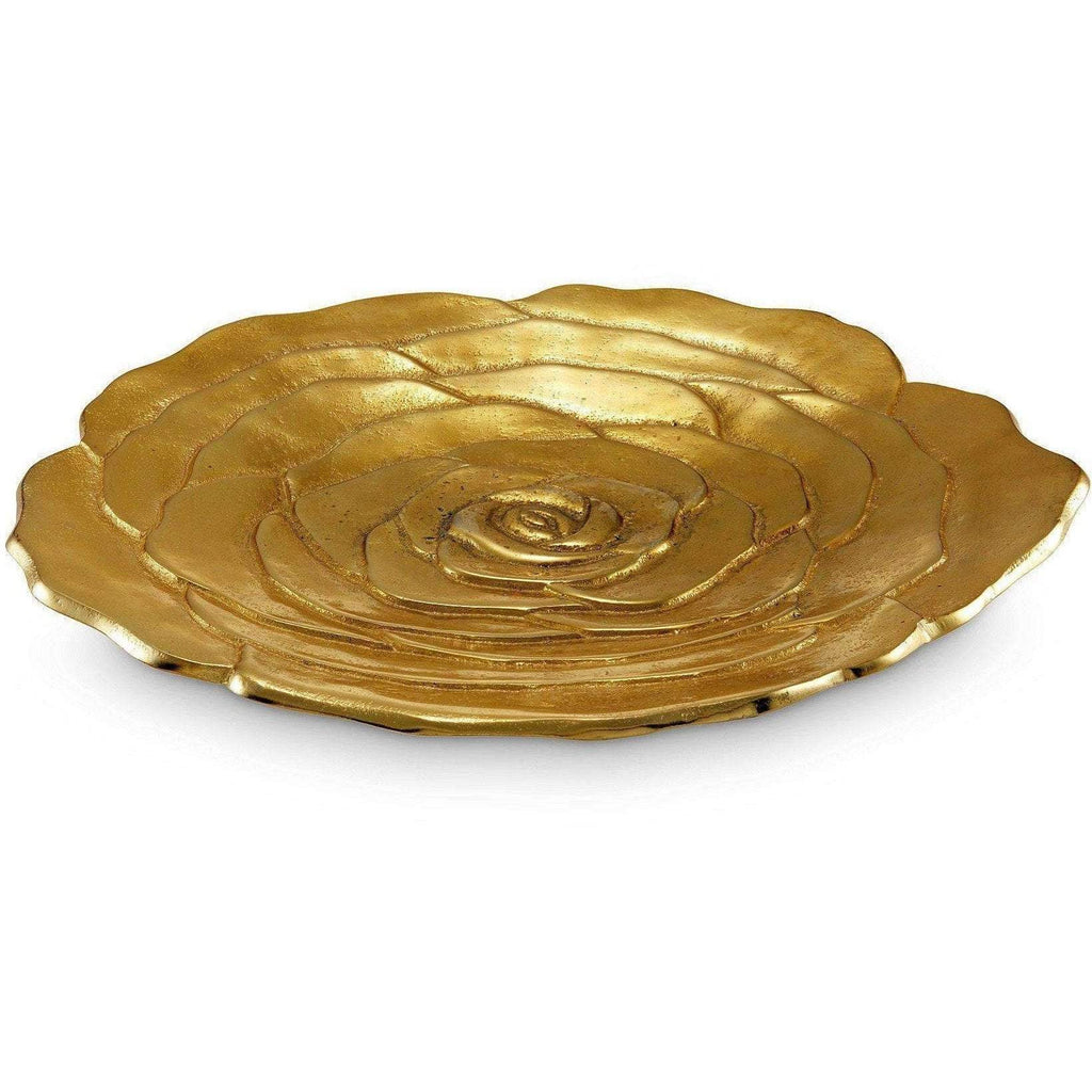 "Julia Knight Rose 15"" Platter Gold 7190300"