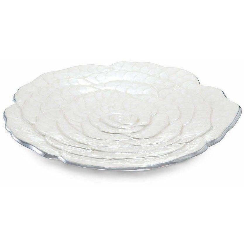 "Julia Knight Rose 15"" Platter Snow 7190015"