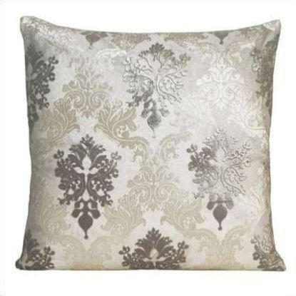 Kevin O'Brien Brocade Velvet Pillow BROP-WHI-22