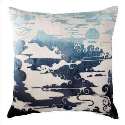 Kevin O'Brien Cloud Appliqued Linen Pillow CLP-AZ