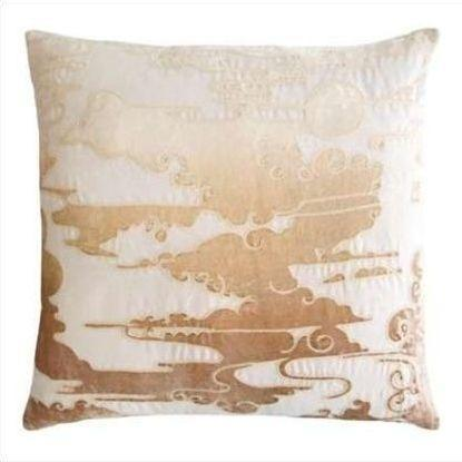 Kevin O'Brien Cloud Appliqued Linen Pillow CLP-NK