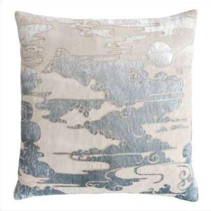 Kevin O'Brien Cloud Appliqued Linen Pillow CLP-SEA