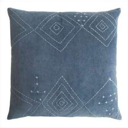 Kevin O'Brien Diamond Stitched Cotton Velvet Pillow DMCV-IND
