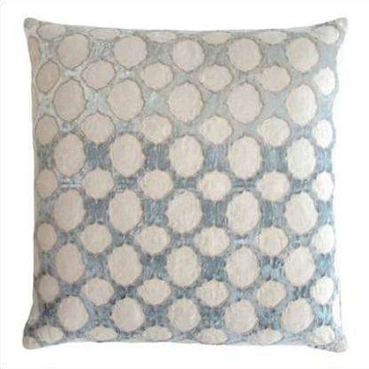 Kevin O'Brien Fretwork Appliqued Linen Pillow FRP-SEA