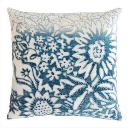 Kevin O'Brien Garland Appliqued Linen Pillow GRP-AZ